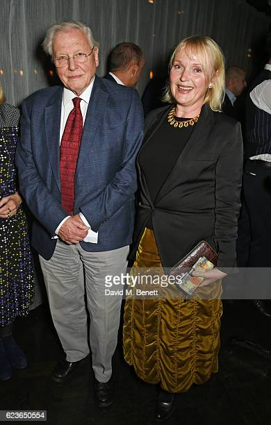Sir David Attenborough and Miranda Richardson attend the Christmas Installation unveiling by Sir David Attenborough at Aqua Shard on November 16 2016...