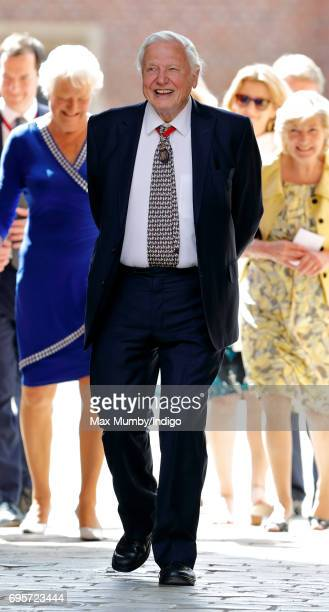 Sir David Attenborough arrives to attend Evensong at the Chapel Royal Hampton Court Palace to celebrate the Centenary of the founding of the...