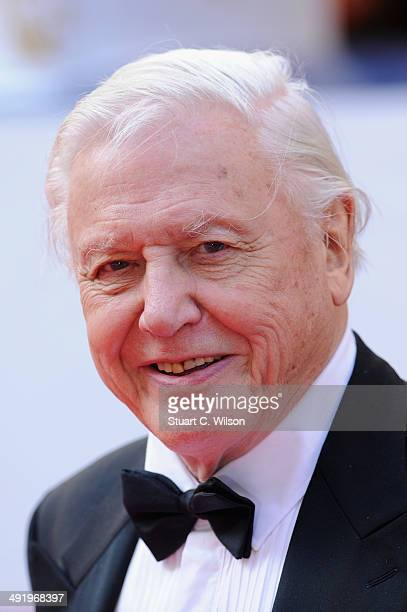 Sir David Attenborough attends the Arqiva British Academy Television Awards at Theatre Royal on May 18 2014 in London England