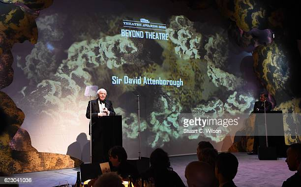 Sir David Attenborough attends The London Evening Standard Theatre Awards at The Old Vic Theatre on November 13 2016 in London England