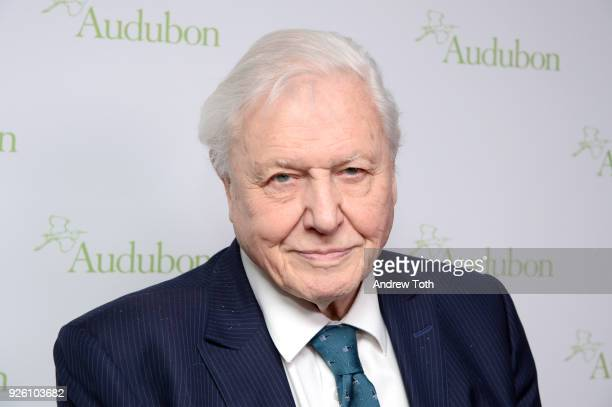 Sir David Attenborough attends The National Audubon Society's 2018 New York City Gala at The Rainbow Room on March 1 2018 in New York City