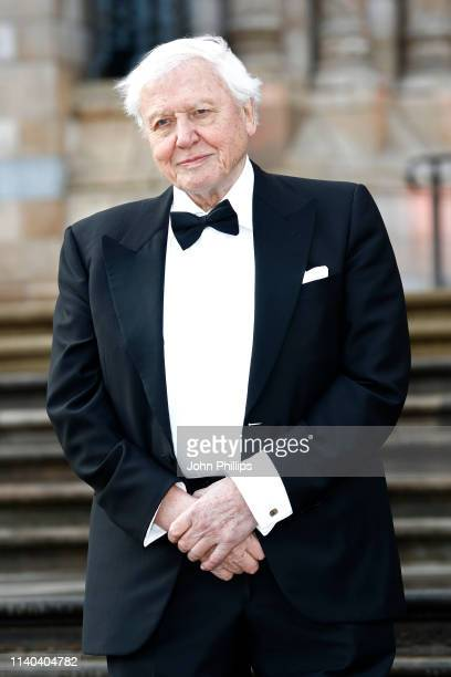 Sir David Attenborough attends the Our Planet global premiere at the Natural History Museum on April 04 2019 in London England