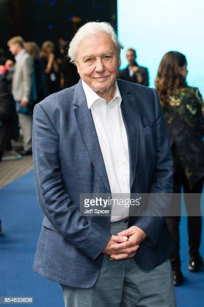 Sir David Attenborough attends the World Premiere of Blue Planet II on September 27 2017 in London United Kingdom