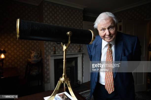 Sir David Attenborough opens the Turner and the Thames, Five paintings at the artists house in Twickenham on January 10, 2020 in London, England.