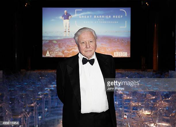 Sir David Attenborough poses ahead of the special screening event of his new series on the Great Barrier Reef hosted by the Australian High...