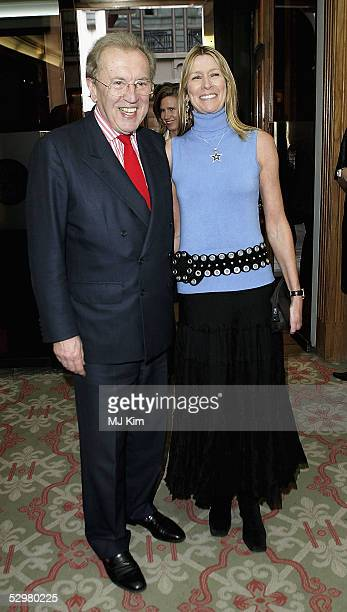 Sir David Frost and his wife Lady Corina Frost attend the 4 Inches charity auction a photographic auction linked with the launch of book featuring...