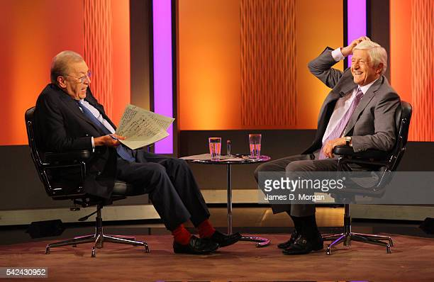Sir David Frost and Sir Michael Parkinson in conversation on February 09 2011 in Sydney Australia