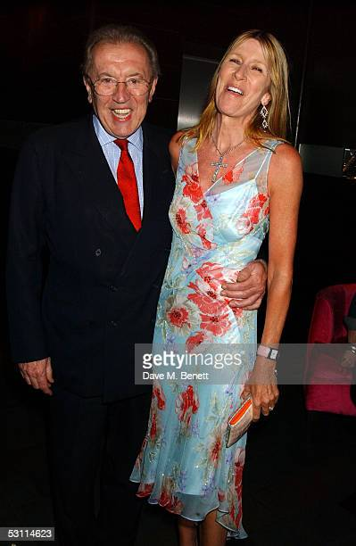 Sir David Frost and wife Lady Carina Frost attend the after show party following the opening night of the new West End production at Wyndham's...