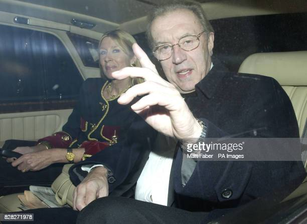 Sir David Frost arrives at the reception party for Sir Elton John and David Furnish at their Old Windsor mansion Wednesday December 21 2005 The...