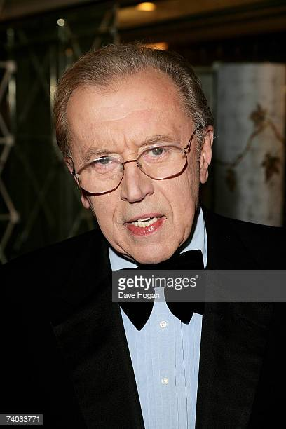 Sir David Frost arrives at the Sony Radio Academy Awards 2007 at Grosvenor House Hotel on April 30 2007 in London England The ceremony marks the 25th...