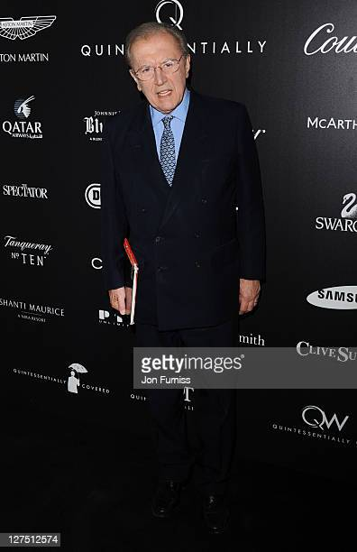 Sir David Frost attends the Quintessentially Awards at One Marylebone on September 28 2011 in London England