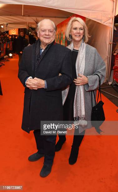 """Sir David Jason and Gill Hinchcliffe arrive at the gala performance of Cirque De Soleil's """"LUIZA"""" at The Royal Albert Hall on January 15, 2020 in..."""