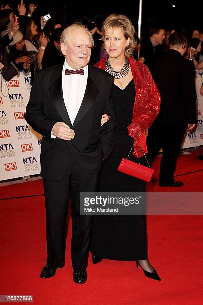 Sir David Jason and Gill Hinchcliffe attend the The National Television Awards at the O2 Arena on January 26 2011 in London England