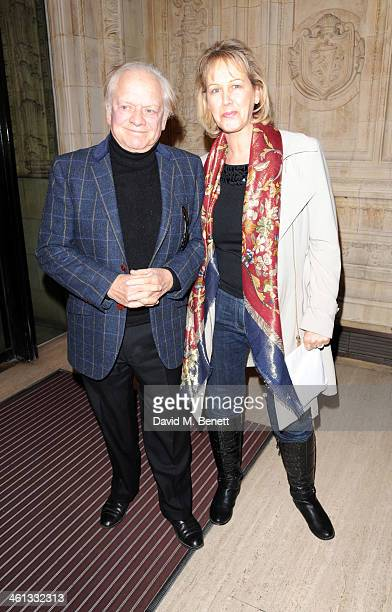 Sir David Jason and Gill Hinchcliffe attends the VIP night for Cirque Du Soleil Quidam at Royal Albert Hall on January 7 2014 in London England
