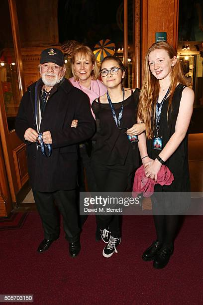 Sir David Jason Gill Hinchcliffe daughter Sophie Mae Jason and guest arrive at a VIP performance of Cirque Du Soleil Amaluna at Royal Albert Hall on...