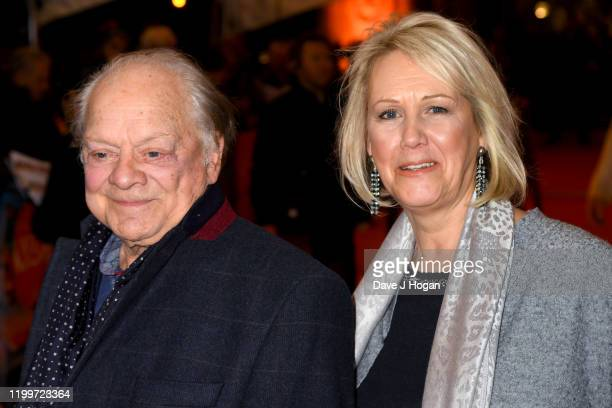 """Sir David Jason with his daughter wife Gill Hinchcliffe attend Cirque du Soleil's """"LUZIA"""" at Royal Albert Hall on January 15, 2020 in London, England."""