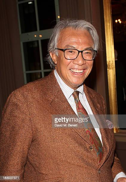 Sir David Tang attends the launch of Geordie Greig's new book Breakfast With Lucian on October 3 2013 in London England