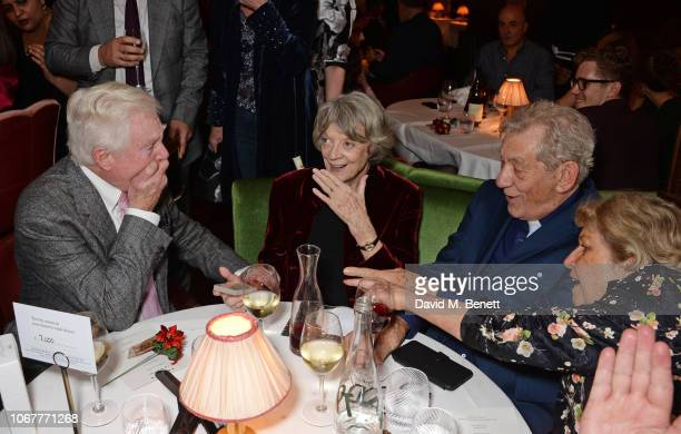 Sir Derek Jacobi Dame Maggie Smith Sir Ian McKellen and Anne Reid attend the annual 'One Night Only At The Ivy' in aid of Acting For Others on...