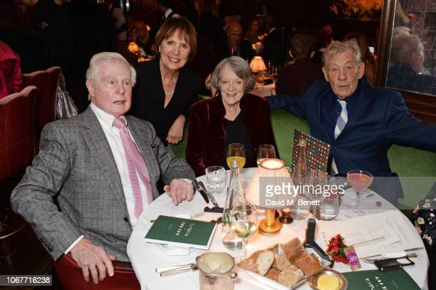 Sir Derek Jacobi Dame Penelope Wilton Dame Maggie Smith and Sir Ian McKellen attend the annual 'One Night Only At The Ivy' in aid of Acting For...
