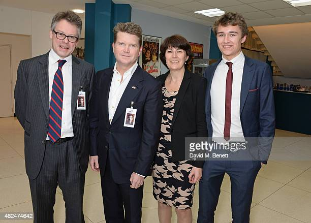 Sir Dermot Turing American Ambassador Matthew Barzun Rachel Barnes neice of Alan Turing and son Tom Barnes attend a special screening of 'The...