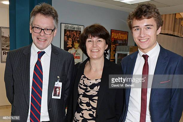 Sir Dermot Turing Rachel Barnes neice of Alan Turing and son Tom Barnes attend a special screening of 'The Imitation Game' hosted by American...