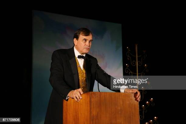 Sir Dominic Asquith during the fundraiser for Lepra India Trust at the residence of the British High Commissioner Sir Dominic Asquith at 2 Rajaji...
