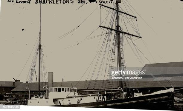 Sir Earnest Shackleton spent a busy day at Southampton on Tuesday inspecting the Quest which is now practically refitted; and ready for...