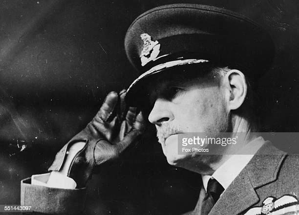 Sir Edward Ellington Inspector General and Marshal of the Royal Air Force saluting to Royal Australian Air Force troops in Melbourne July 26th 1938