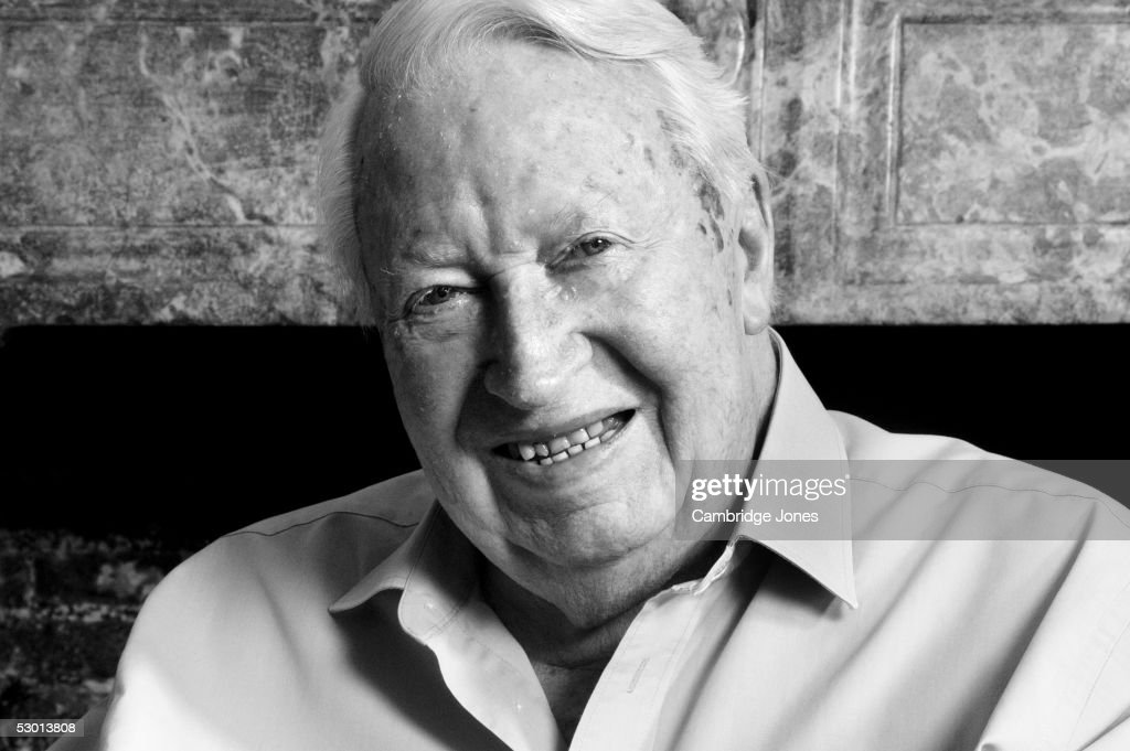 Sir Edward Heath former Conservative Prime Minister (1970-1974) poses during a photoshoot at his home in Salisbury on the 19th of March 2004.