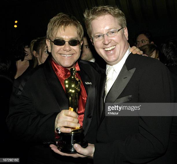 Sir Elton John and Andrew Stanton winner for Best Animation Feature for Finding Nemo