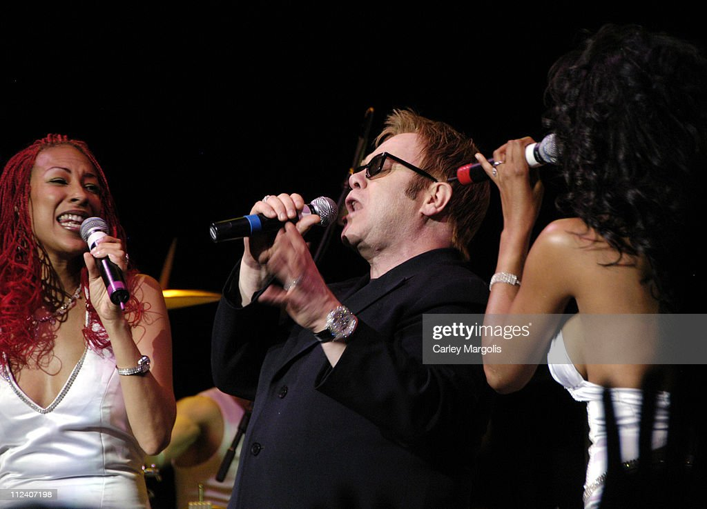 Sir Elton John (center) and Chic during We Are Family Foundation To Honor Sir Elton John, Quincy Jones, Tommy Hilfiger, and The Comcast Family of Companies at The Manhattan Center Hammerstein Ballroom in New York City, New York, United States.