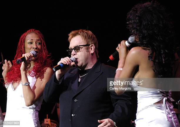 Sir Elton John and Chic during We Are Family Foundation To Honor Sir Elton John Quincy Jones Tommy Hilfiger and The Comcast Family of Companies at...