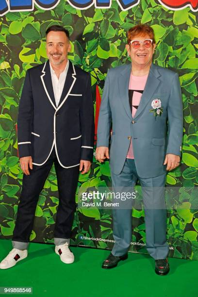Sir Elton John and David Furnish attend the Family Gala Screening of Sherlock Gnomes hosted by Sir Elton John and David Furnish at Cineworld...
