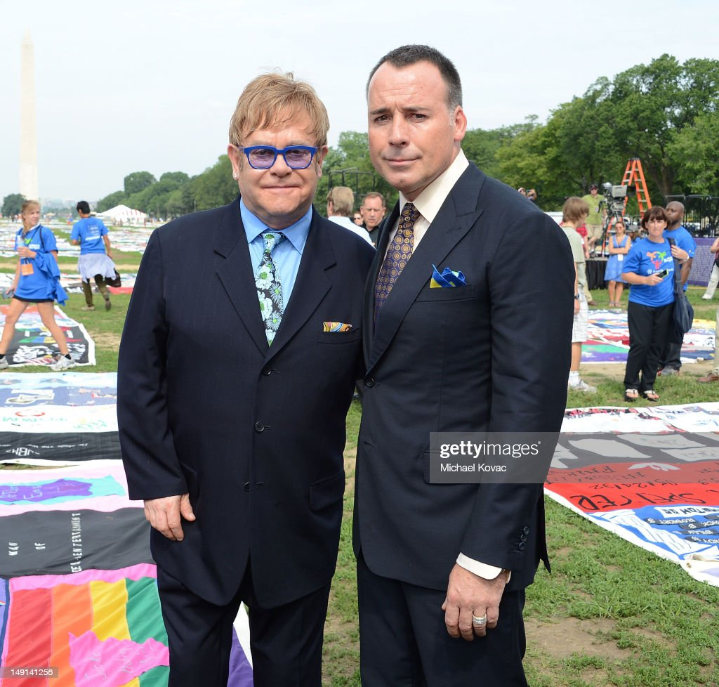 Sir Elton John Visits The AIDS Memorial Quilt