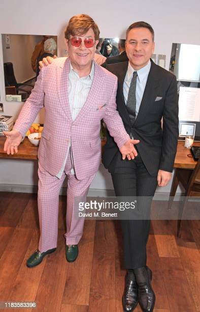 Sir Elton John and David Walliams celebrate the publication of Sir Elton's autobiography Me in conversation with David Walliams at the Eventim Apollo...