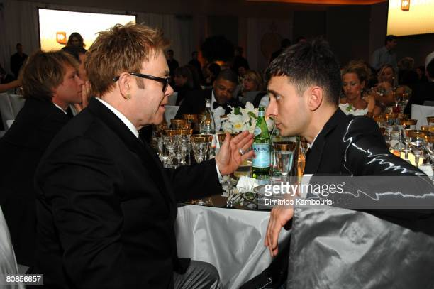 Sir Elton John and Hedi Slimane *EXCLUSIVE*