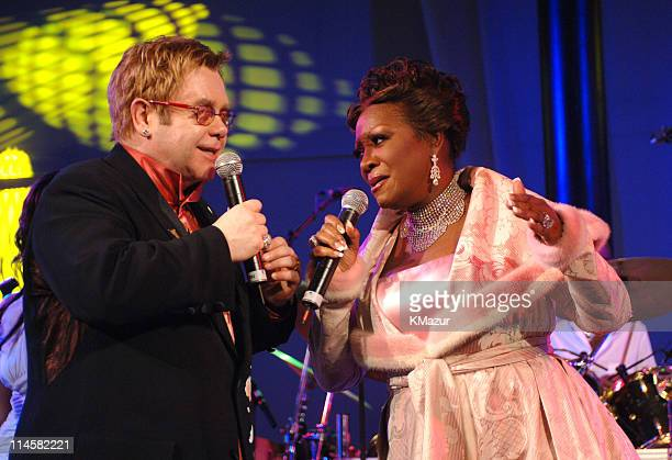 Sir Elton John and Patti LaBelle during The 7th Annual White Tie and Tiara Ball to Benefit the Elton John Aids Foundation in Association with Chopard...