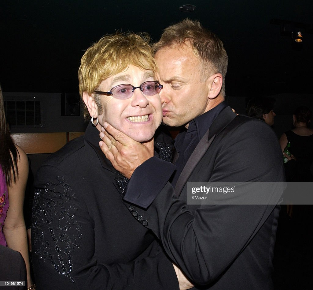 Sir Elton John and Sting during The 10th Annual Elton John AIDS Foundation InStyle Party - Inside at Moomba Restaurant in Hollywood, California, United States.