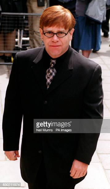 Sir Elton John arrives at the Grosvenor House hotel in Park Lane for the Ivor Novello Awards 9/7/99 Sir Elton has had a heart pacemaker fitted The...