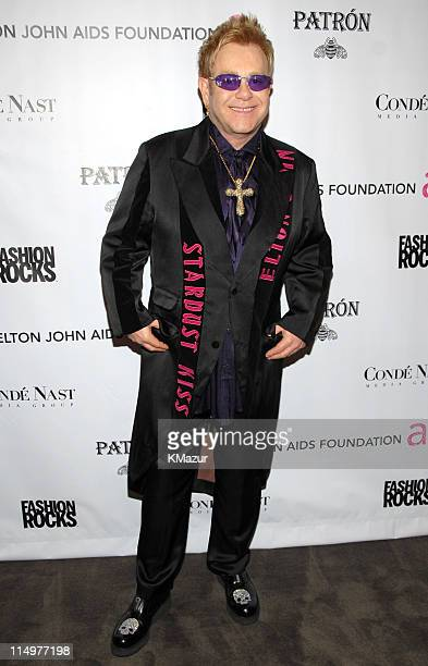 Sir Elton John at Conde Nast Media Group presents Elton John and the debut of his new album 'The Captain The Kid' at the official Fashion Rocks'...
