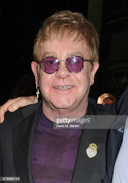"""Sir Elton John attends as """"Billy Elliot The Musical"""" celebrates its 10th Anniversary in London's West End at the Victoria Palace Theatre on May 12,..."""