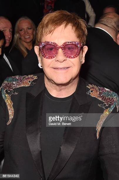 Sir Elton John attends CLUB LOVE for the Elton John AIDS Foundation in association with BVLGARI on November 29 2017 in London England