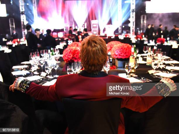 Sir Elton John attends the 26th annual Elton John AIDS Foundation Academy Awards Viewing Party sponsored by Bulgari celebrating EJAF and the 90th...
