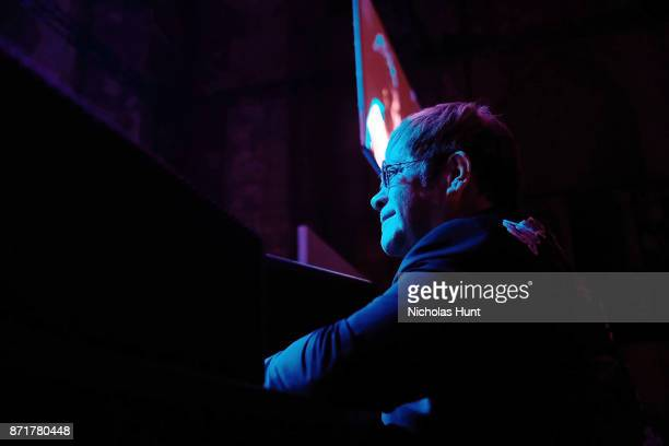 Sir Elton John attends the Elton John AIDS Foundation Commemorates Its 25th Year And Honors Founder Sir Elton John During New York Fall Gala Inside...