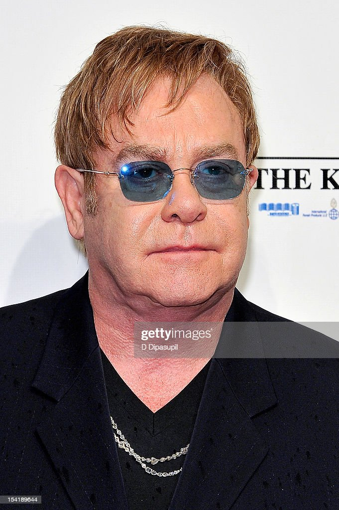 Sir Elton John attends the Elton John AIDS Foundation's 11th Annual 'An Enduring Vision' Benefit at Cipriani Wall Street on October 15, 2012 in New York City.