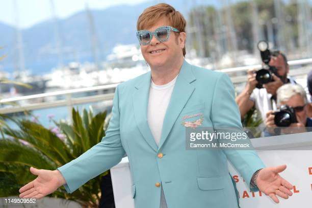 Sir Elton John attends the photocall for Rocketman during the 72nd annual Cannes Film Festival on May 16 2019 in Cannes France