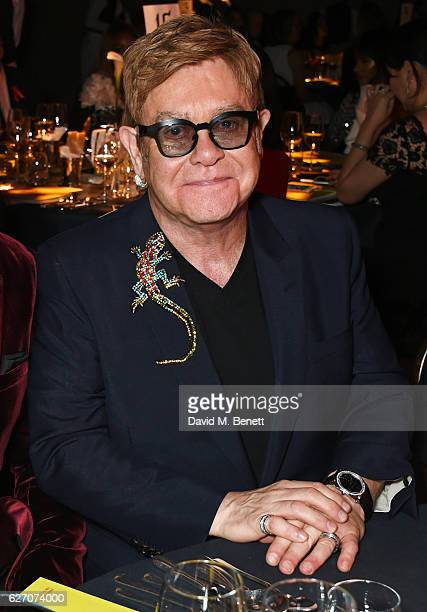 Sir Elton John attends 'The Radical Eye' dinner and private view for the Elton John Aids Foundation in association with Bulgari on December 1 2016 in...