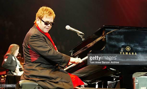 Sir Elton John during Sir Elton John in Concert Paris at Bercy in Paris France