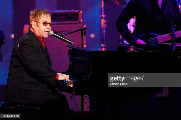 Sir Elton John during The Royal Variety Concert Inside and Show at The London Coliseum in London England Great Britain