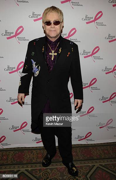 NEW YORK APRIL 08 Sir Elton John in the green room at the Waldorf Astoria during The Breast Cancer Research Foundation's Hottest Pink Party Ever 2008...
